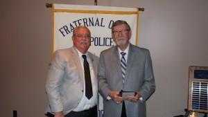President Jim Martin and Ray Hulgin (r)