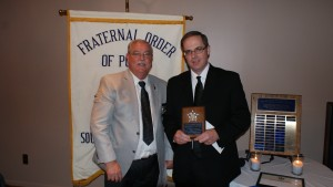 President Jim Martin and Sgt. Jerry Grayson (r)